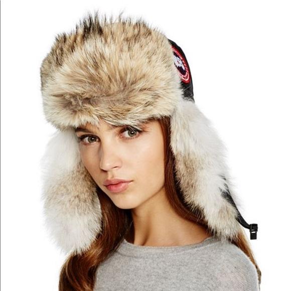 Canada Goose Accessories - Canada Goose coyote fur aviator hat d47765db4c8c